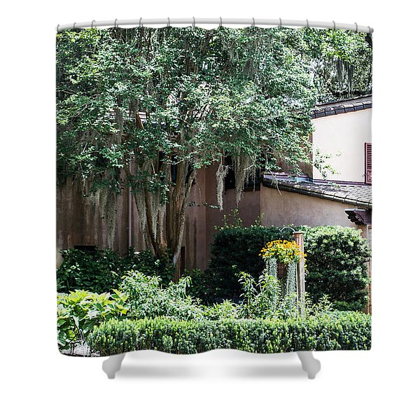 Old Florida Style Shower Curtain
