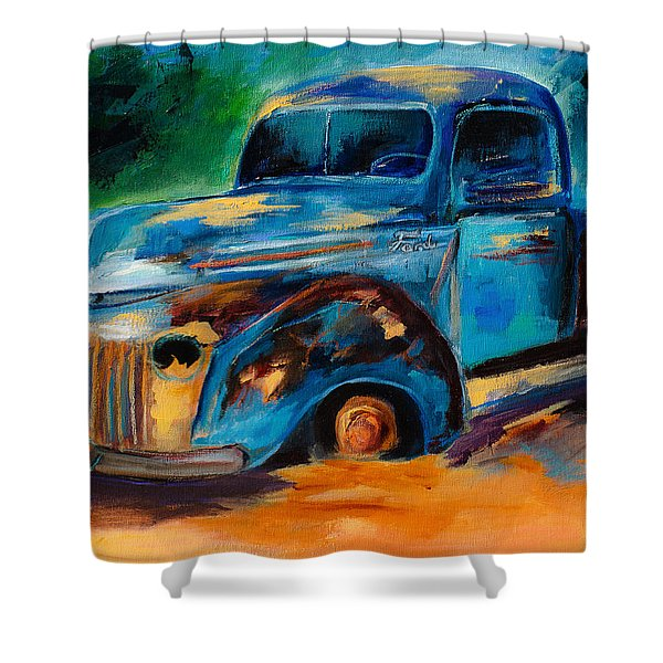 Old Ford In The Back Of The Field Shower Curtain