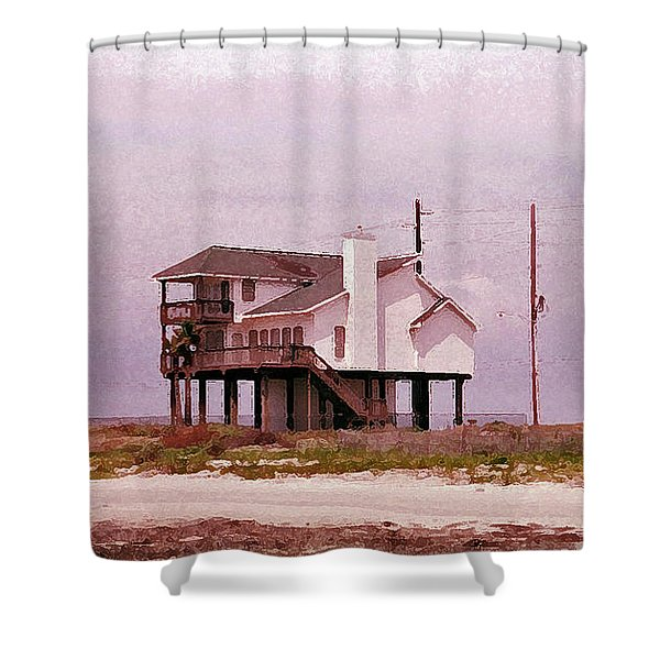 Old Galveston Shower Curtain