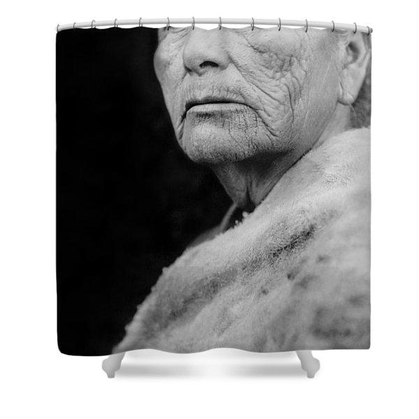 Old Hupa Woman Circa 1923 Shower Curtain
