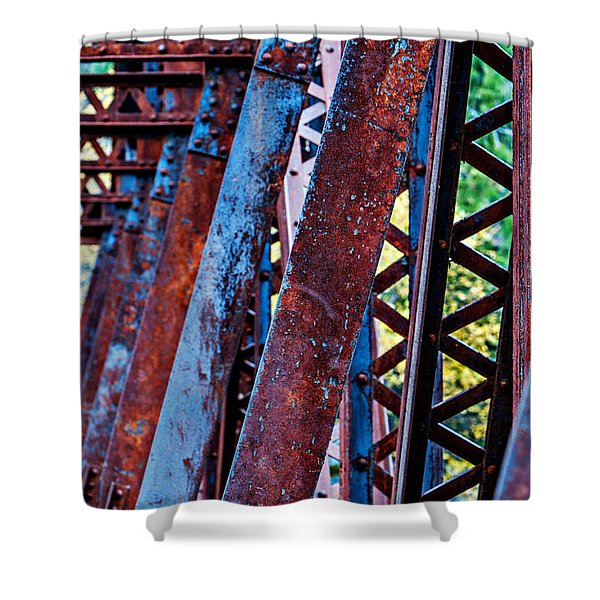 Shower Curtain featuring the photograph Old Iron by Mary Jo Allen
