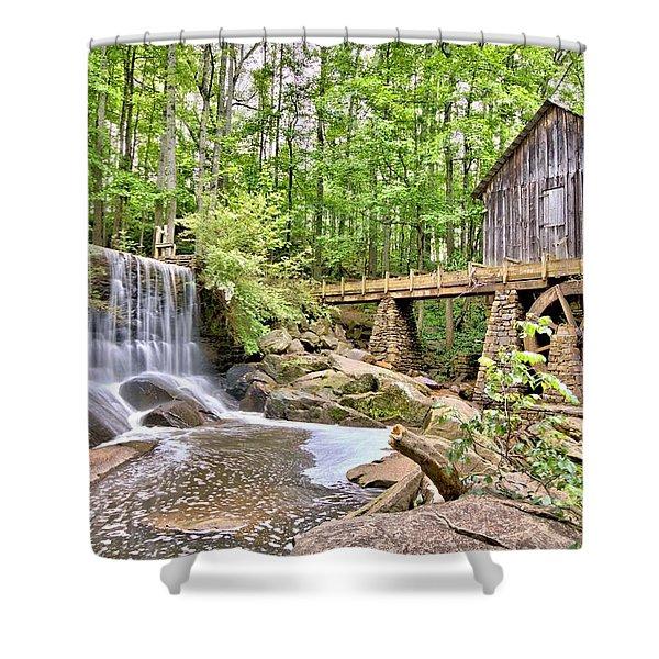 Old Lefler Grist Mill Shower Curtain