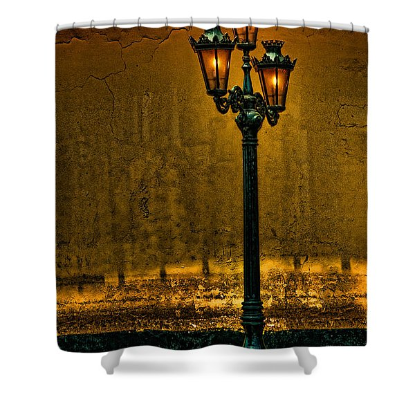Old Lima Street Lamp Shower Curtain