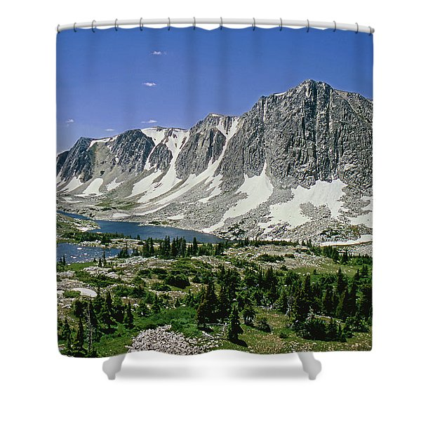M-09702-old Main Peak, Wy Shower Curtain