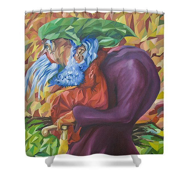 Old Man Collecting Sticks - But Not On The Sabbath Shower Curtain