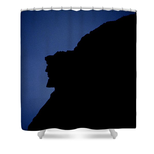 Shower Curtain featuring the photograph Old Man Of The Mountain - Franconia Notch State Park New Hampshire by Erin Paul Donovan