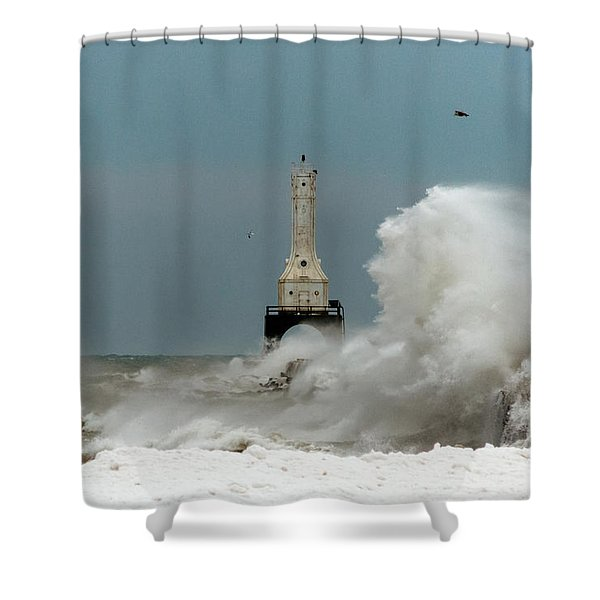 Old Man Winter Shower Curtain