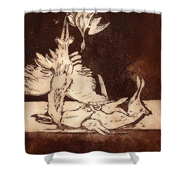 Old Masters Still Life - With Great Bittern Duck Rabbit - Nature Morte - Natura Morta - Still Life Shower Curtain