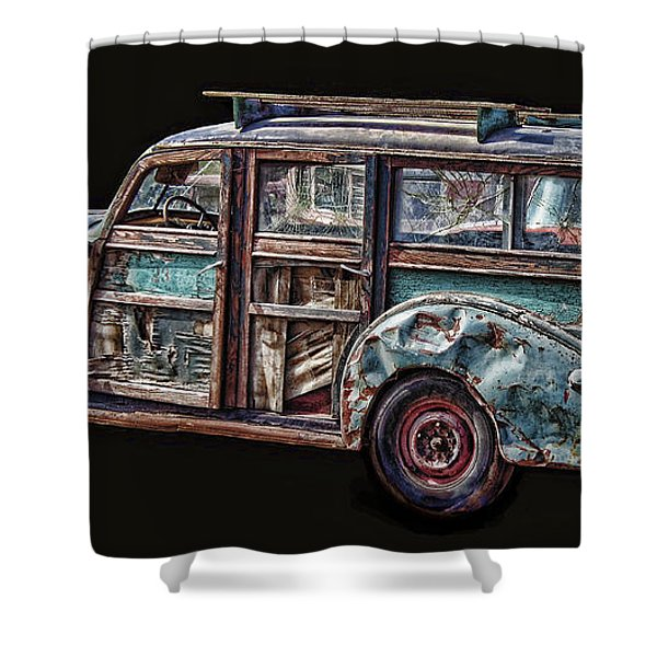 Old Packard Woody Shower Curtain