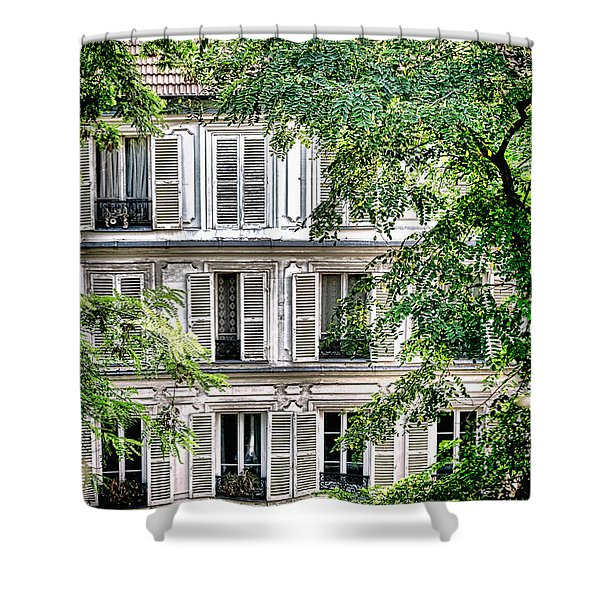 Old Parisian Building Shower Curtain