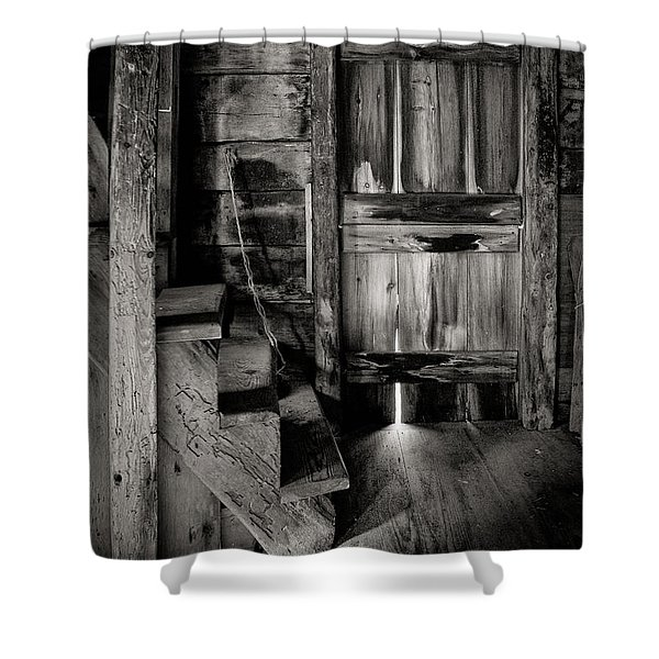 Old Room - Rustic - Inside The Windmill Shower Curtain