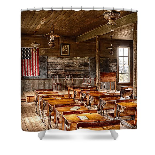 Old Schoolroom Shower Curtain