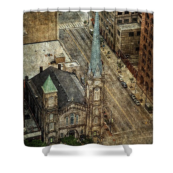Old Stone Church Shower Curtain