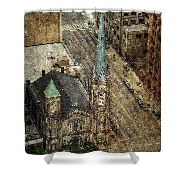 Old Stone Church Shower Curtain