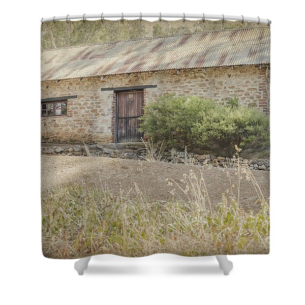 Old Stone Cottage Shower Curtain