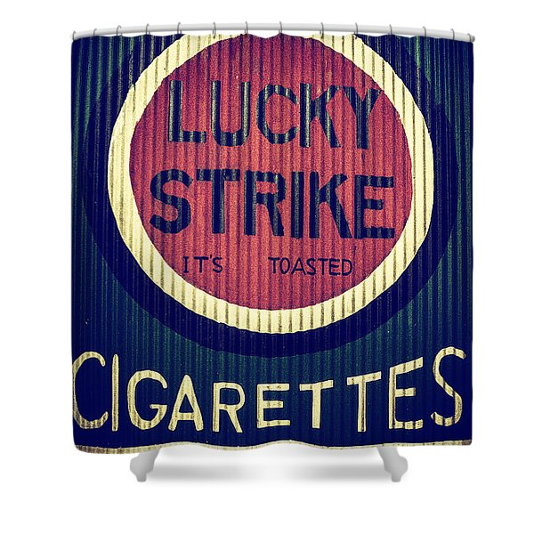 Old Time Cigarettes Shower Curtain