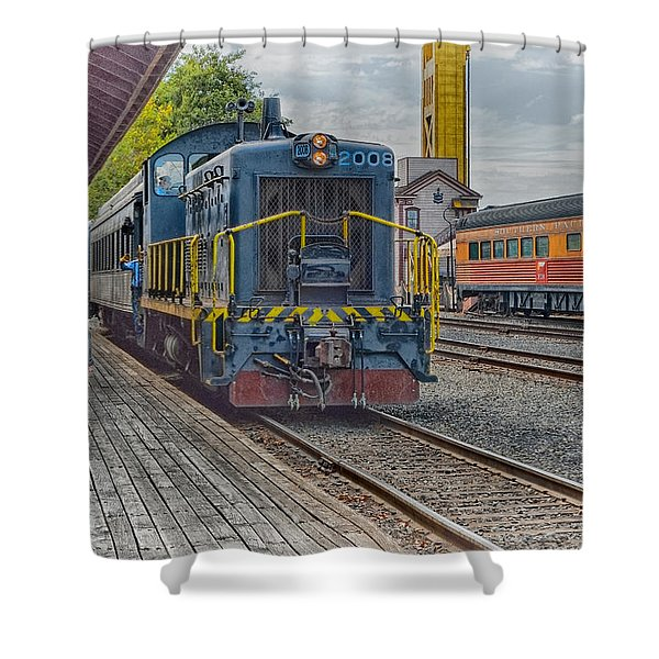 Old Town Sacramento Railroad Shower Curtain