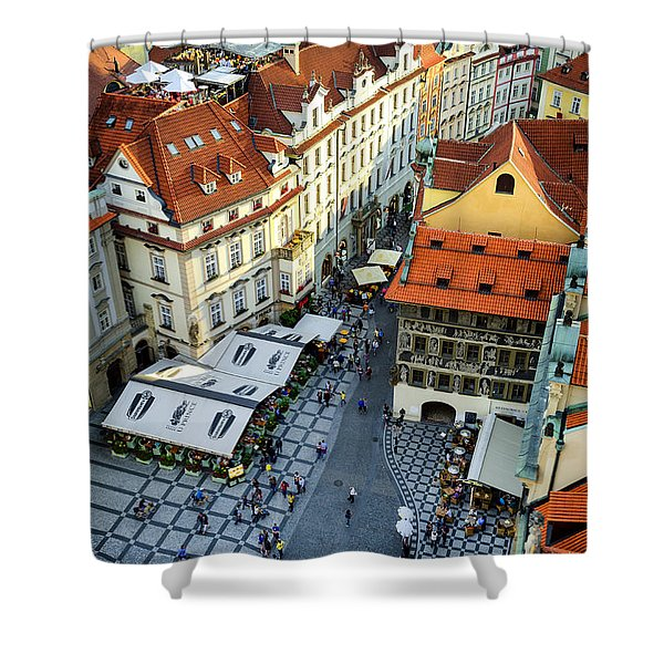 Old Town Square In Prague Shower Curtain