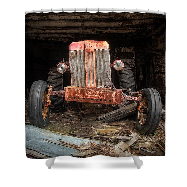 Old Tractor Face Shower Curtain