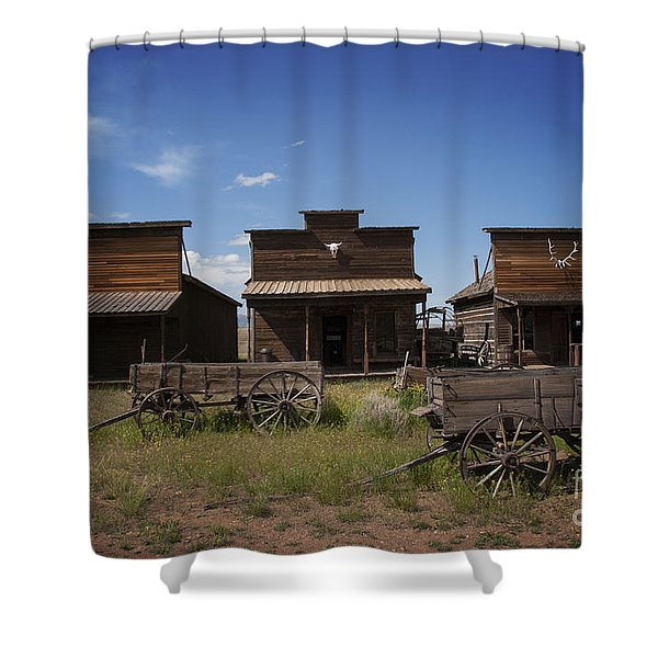 Old Trail Town Shower Curtain