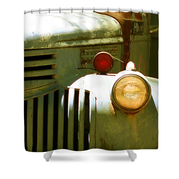 Old Truck Abstract Shower Curtain