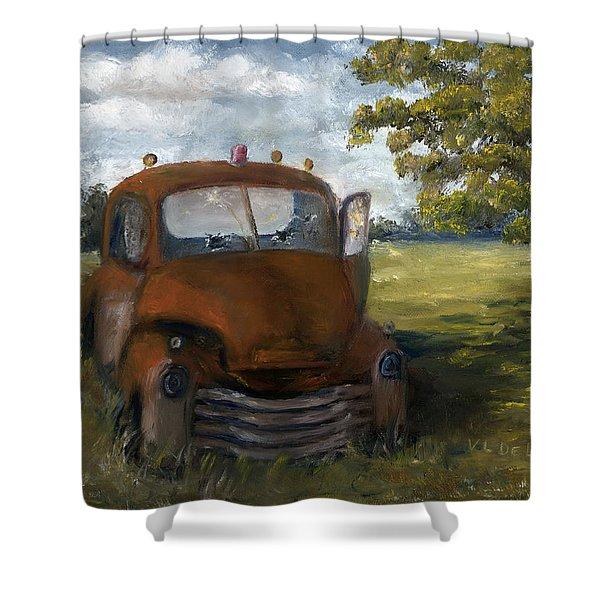 Old Truck Shreveport Louisiana Wrecker Shower Curtain