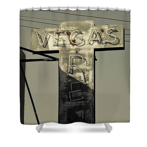 Old Vegas Sign On First Street, Fremont Shower Curtain