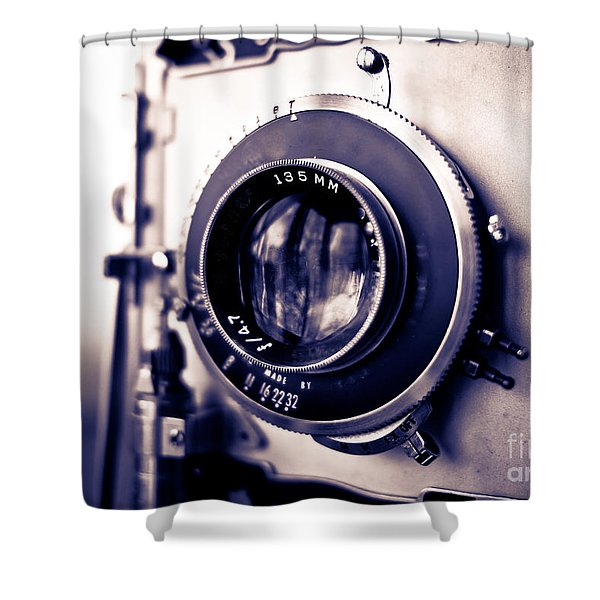 Old Vintage Press Camera  Shower Curtain