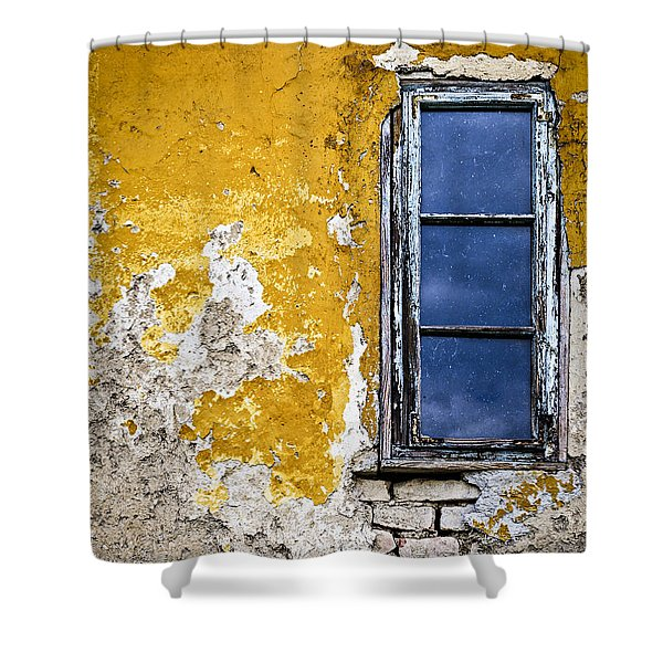 Old Wall In Serbia Shower Curtain