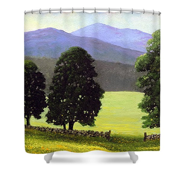 Old Wall Old Maples Shower Curtain