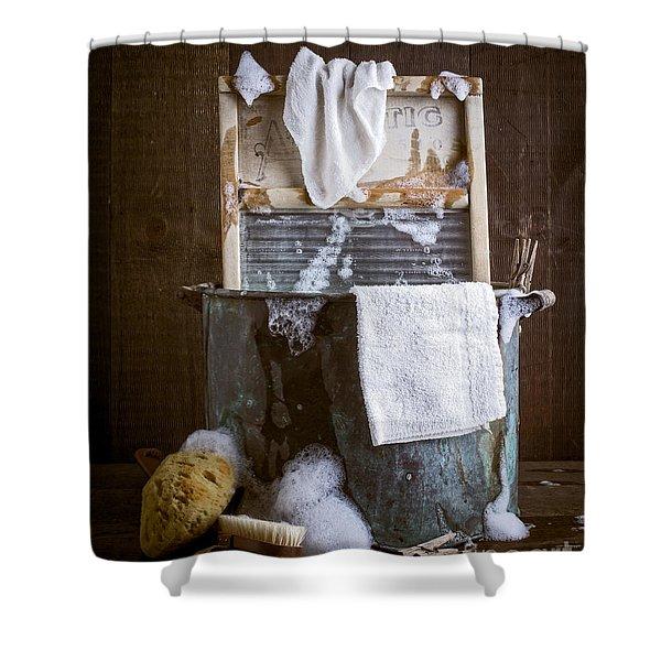 Old Wash Tub Shower Curtain