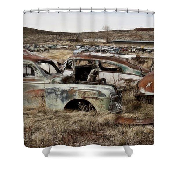 Old Wrecks Shower Curtain