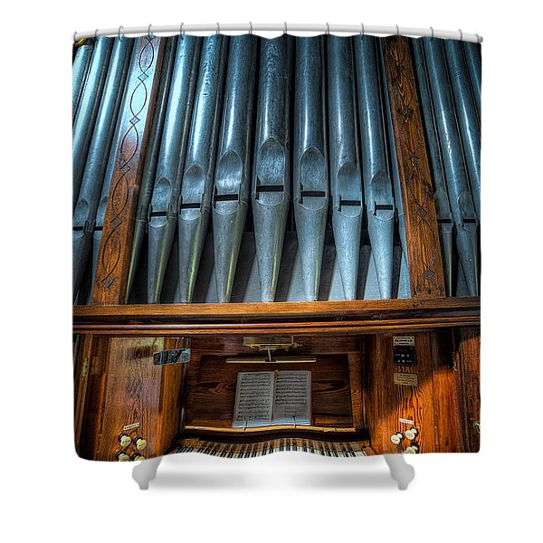 Olde Church Organ Shower Curtain