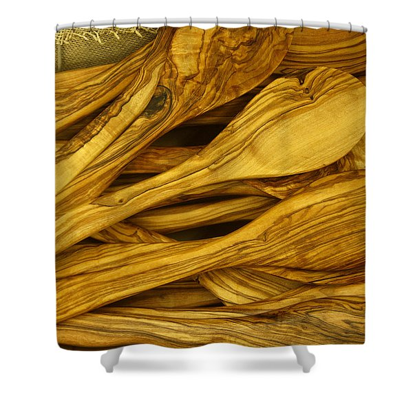 Olive Wood Shower Curtain