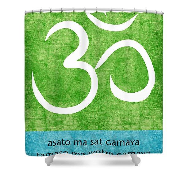 Om Asato Ma Sadgamaya Shower Curtain