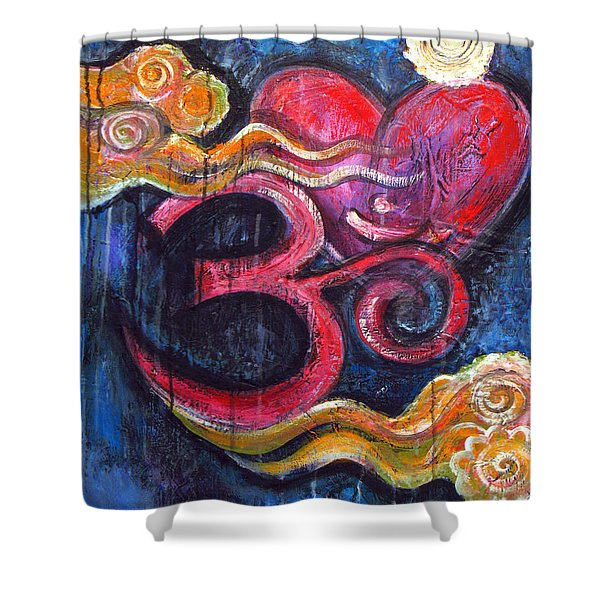 Om Heart Of Kindness Shower Curtain