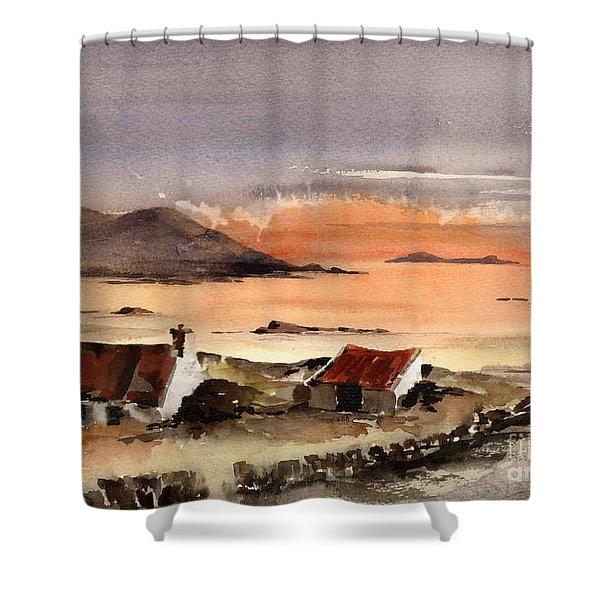 Omey Island Sunset Galway Shower Curtain