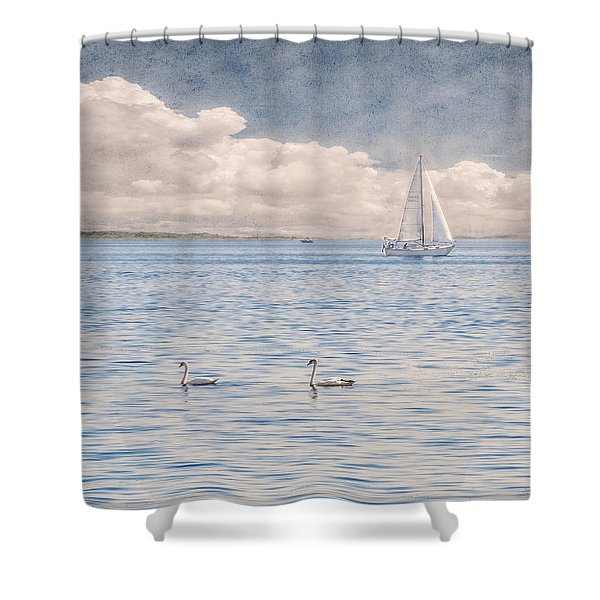 On A Summer's Breeze Shower Curtain