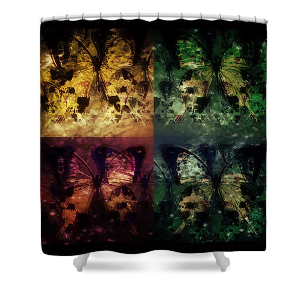 On Butterfly Wings Shower Curtain