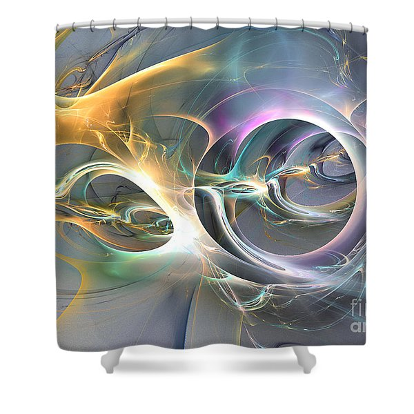 On Fire - Abstract Art Shower Curtain