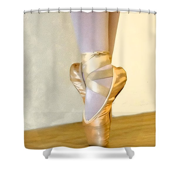 Ballet Toes On Point Shower Curtain