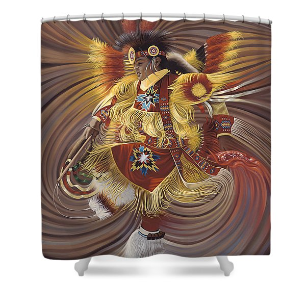 On Sacred Ground Series 4 Shower Curtain