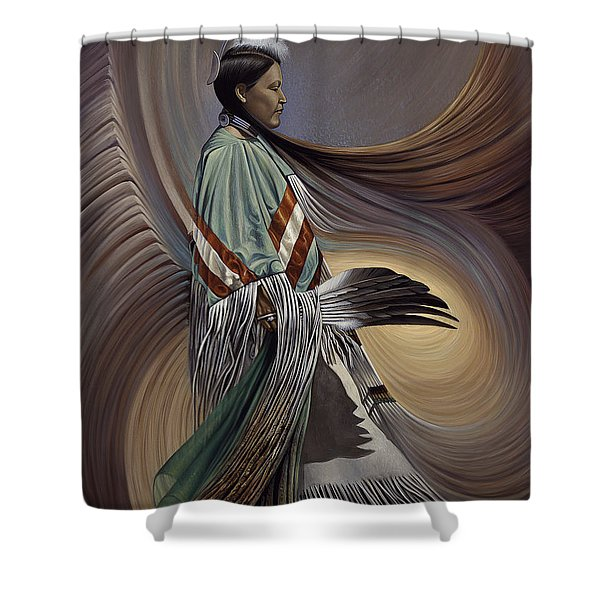 On Sacred Ground Series I Shower Curtain