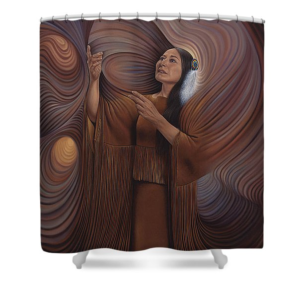 On Sacred Ground Series V Shower Curtain
