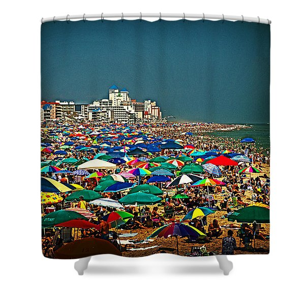 On The Beach In August Shower Curtain