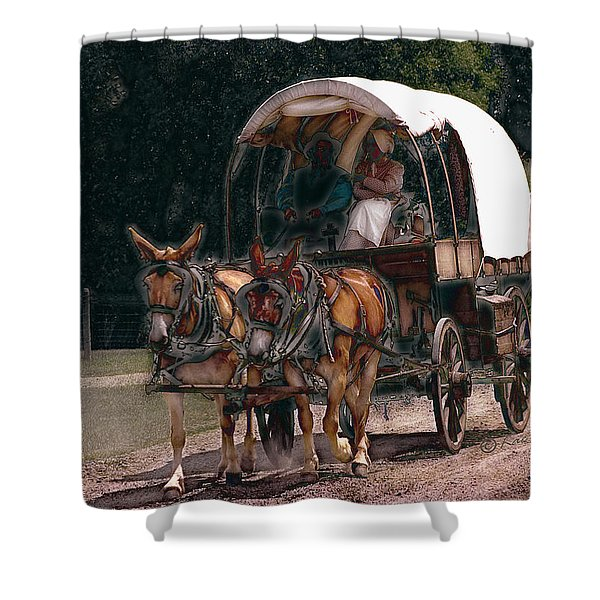 On The Bozeman Trail Shower Curtain