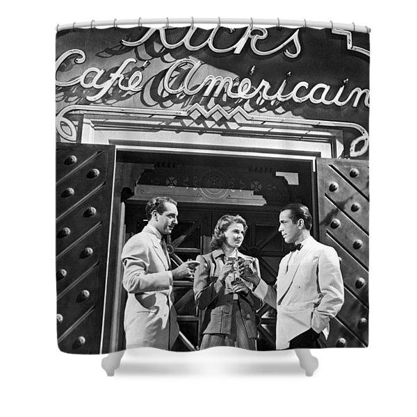On The Casablanca Set Shower Curtain