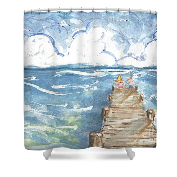 On The Dock Shower Curtain