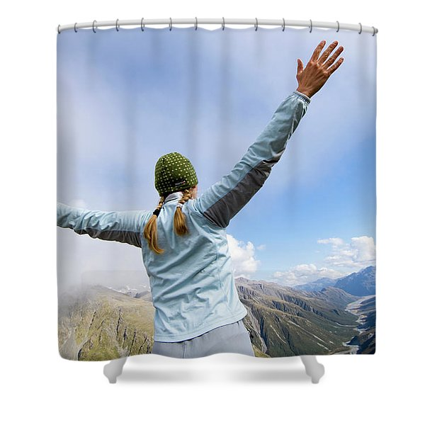 On The Fourth Day Of The Three Passes Shower Curtain