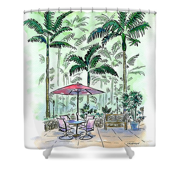 On The Lanai Shower Curtain
